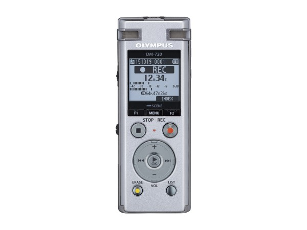 DM-720 siilber (4GB) - inkl. NiMh Batterie, Stand clip